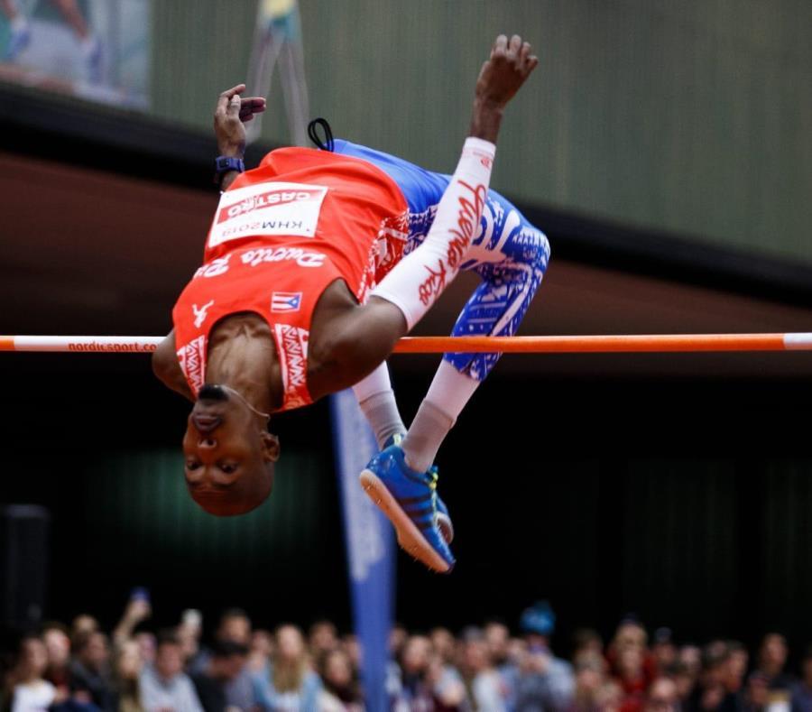 Luis Joel Castro necesita registrar un salto de 2.30 metros para clasificar al Campeonato Mundial de septiembre en Doha, Catar. Su mejor marca es 2.29. (GFR Media) (semisquare-x3)