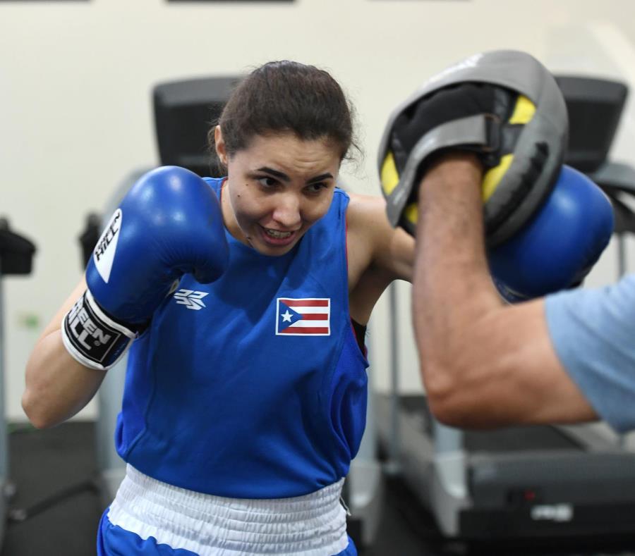 Stephanie Piñero será una de las boxeadoras activas en Santiago. (semisquare-x3)