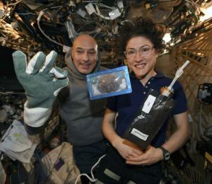 Llegan a la Tierra las primeras galletas horneadas en el espacio