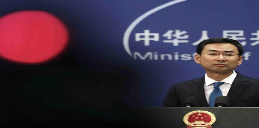 El portavoz del Ministerio de Exteriores chino, Geng Shuang (semisquare-x3)