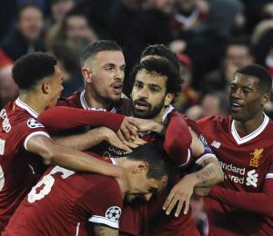 El Liverpool se acerca a la final de la Champions tras golear al Roma
