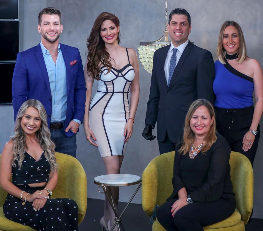 Carlos McConnie, Cynthia Olavarría, Pedro Rúa Jovet, Milly Méndez, Kimberly Santiago y Sara Arroyo apuestan a conectar con la audiencia boricua con este nuevo programa. (semisquare-x3)