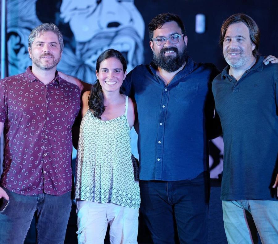 Desde la izquierda: Martin Louzao, Crystal Díaz, Francisco Tirado y Patricio Schames, cofundadores de PRoduce. (Suministrada) (semisquare-x3)