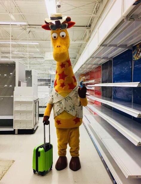 Una foto de Geoffrey con una maleta ronda en redes. (vertical-x1)