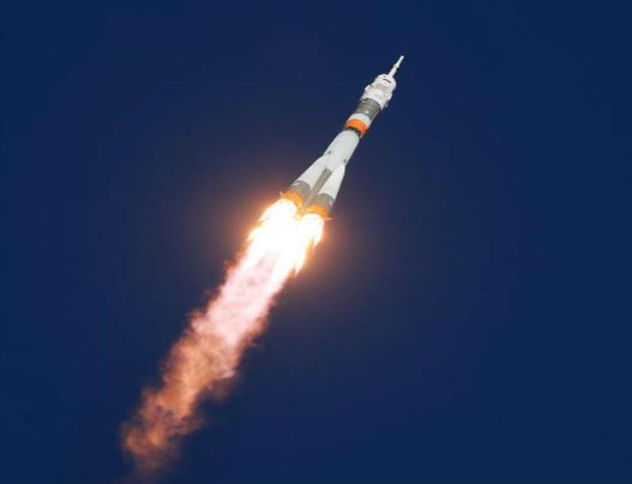 El lanzamiento de la Soyuz MS-10 se realizó desde el cosmódromo de Baikonur, en Kazajistán (semisquare-x3)