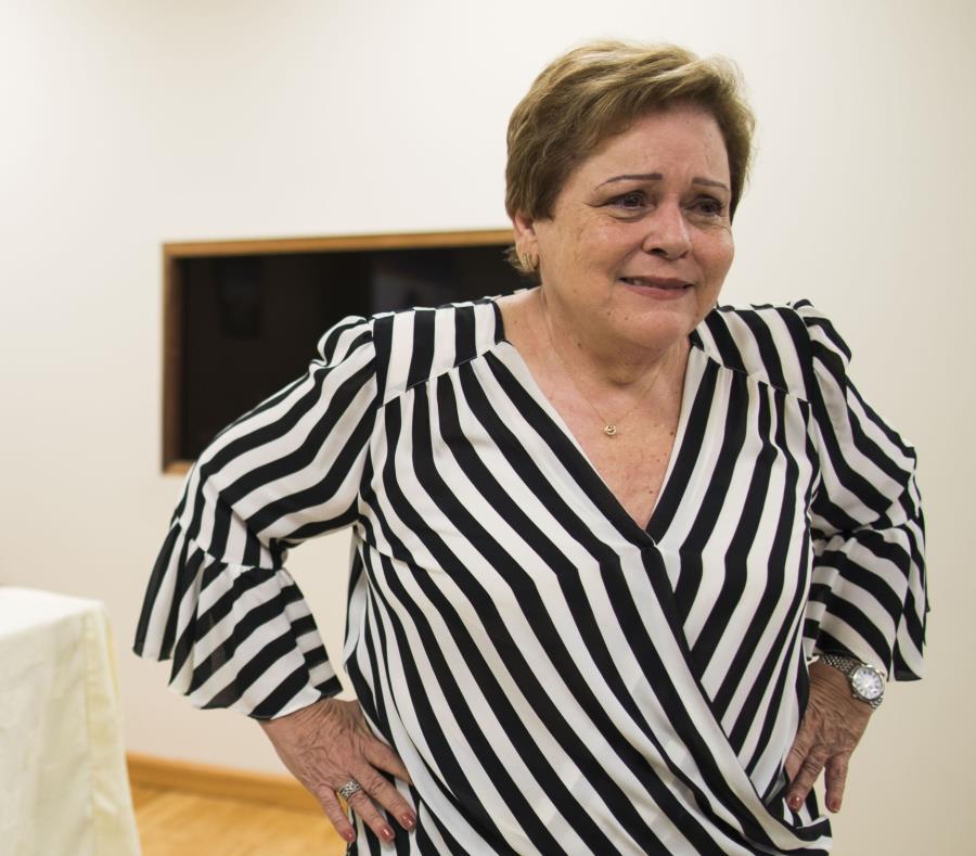 La presidenta de la Asociación de Maestros, Aida Díaz (semisquare-x3)