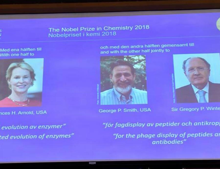 Otorgan el Nobel de Química a tres científicos por controlar el poder de la evolución (semisquare-x3)