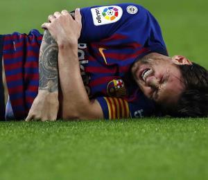 Messi se lesiona una semana antes del clásico