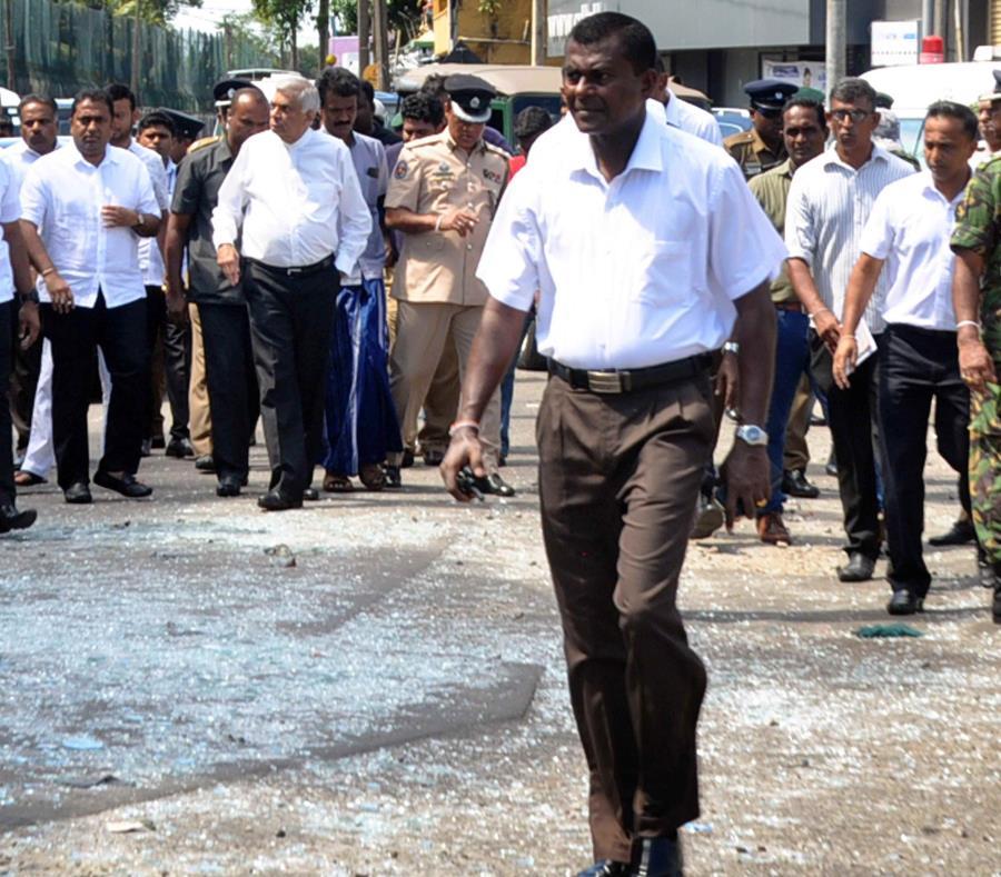 El primer ministro de Sri Lankan, Ranil Wickremesinghe (semisquare-x3)