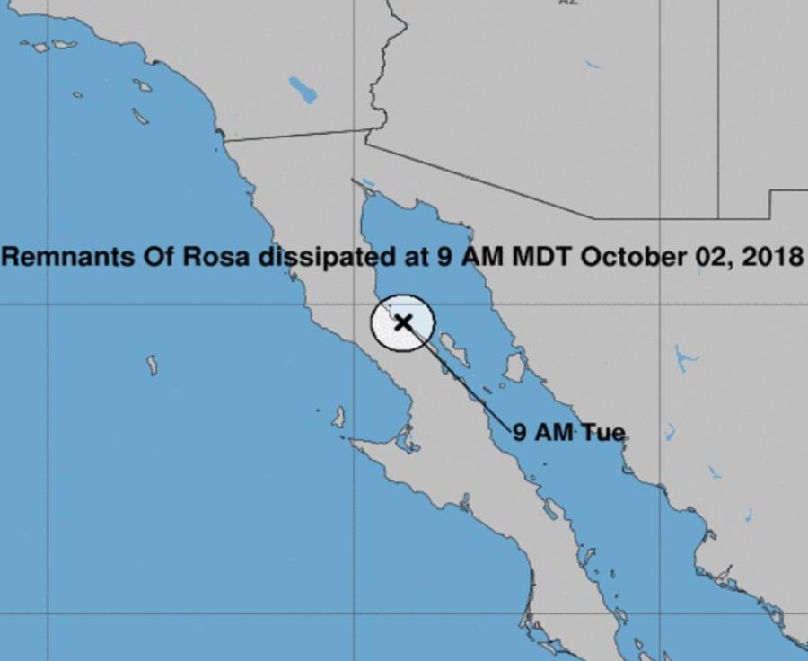 Rosa es el decimoséptimo ciclón que se forma en la actual temporada de huracanes en el Pacífico. (semisquare-x3)