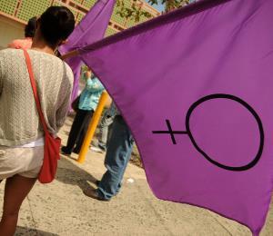 La mujer en pie de lucha por la igualdad