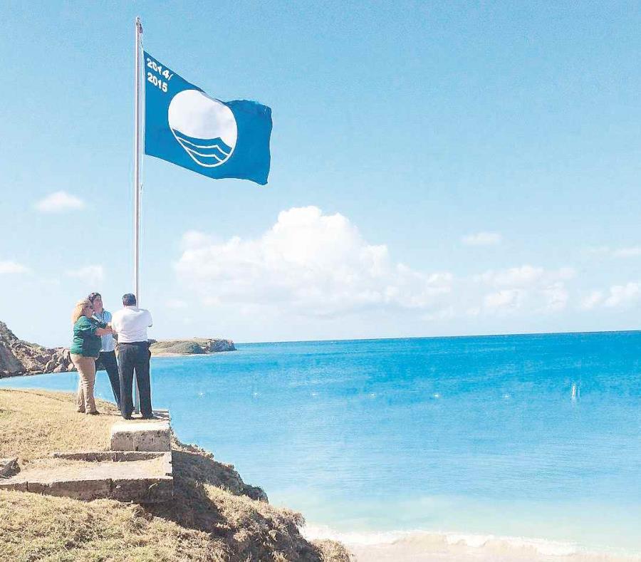 Bandera azul Puerto Rico (semisquare-x3)