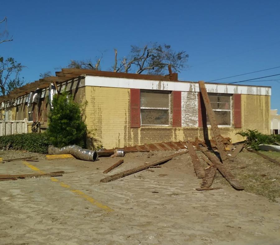 La casa de la familia puertorriqueña fue la más afectada entre todas las residencias del complejo en Panama City, Florida. (Suministrada) (semisquare-x3)