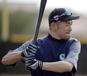 Ichiro Suzuki entrena con los Marineros