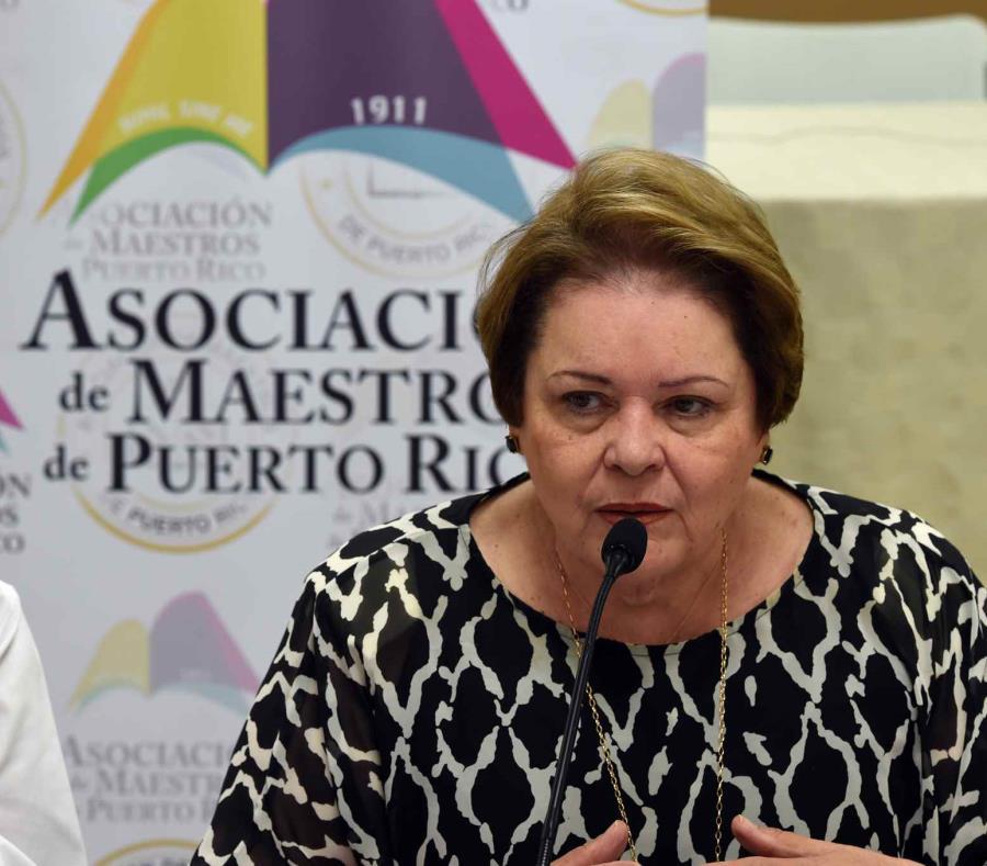 Aida Díaz, presidenta de la Asociación de Maestros de Puerto Rico. (GFR Media) (semisquare-x3)