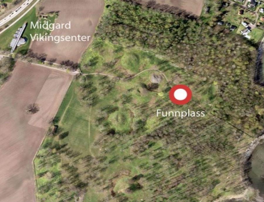 Esta es la zona donde fue hallado el casco del barco vikingo.  (Vestfold fylkeskommune) (semisquare-x3)