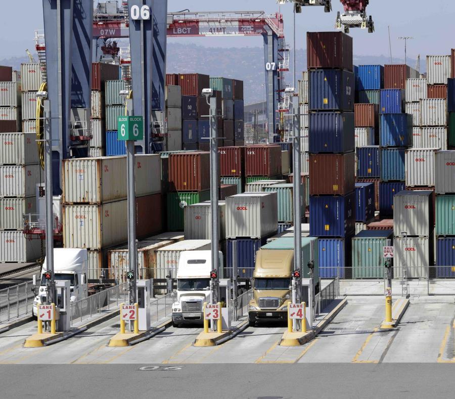 Imagen de archivo del puerto de Long Beach, California. (AP) (semisquare-x3)