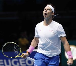 Pese a su eliminación, Rafael Nadal se va de la Copa Masters a lo grande