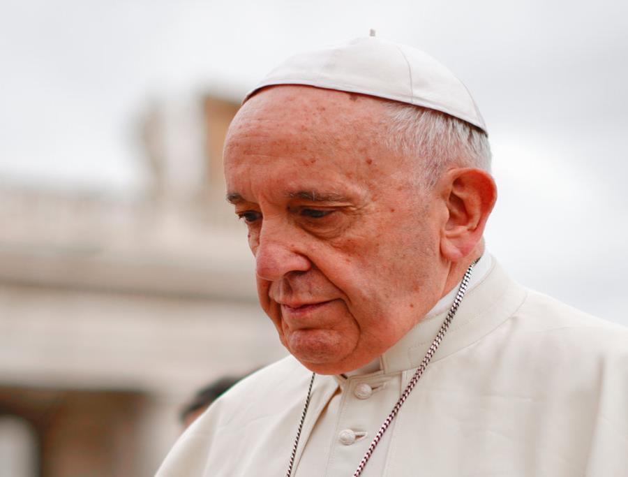 Francisco recibió a las máximas autoridades del Episcopado de Estados Unidos en el Vaticano. (AP) (semisquare-x3)