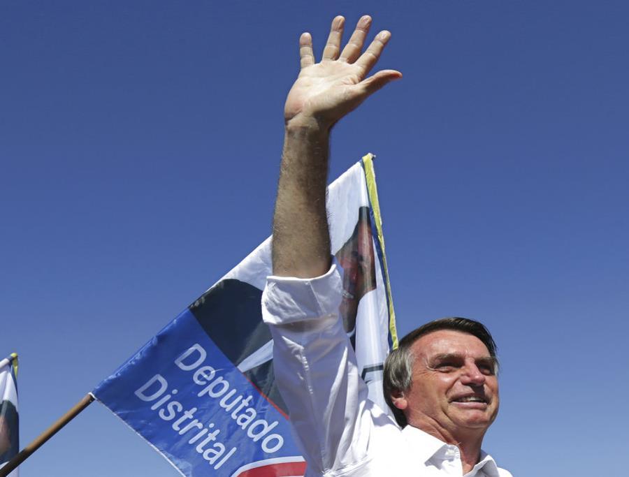 Las intenciones de voto por el candidato ultraderechista Jair Bolsonaro tuvieron un fuerte impulso (semisquare-x3)