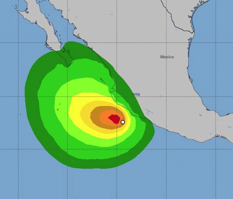Imagen de las probabilidades de la fuerza de los vientos de la tormenta. (NOAA) (semisquare-x3)