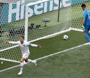 Cristiano Ronaldo le da la victoria a Portugal sobre Marruecos