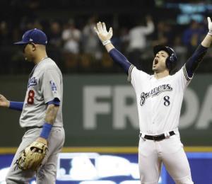 Los Cerveceros ganan y evitan la eliminación ante los Dodgers