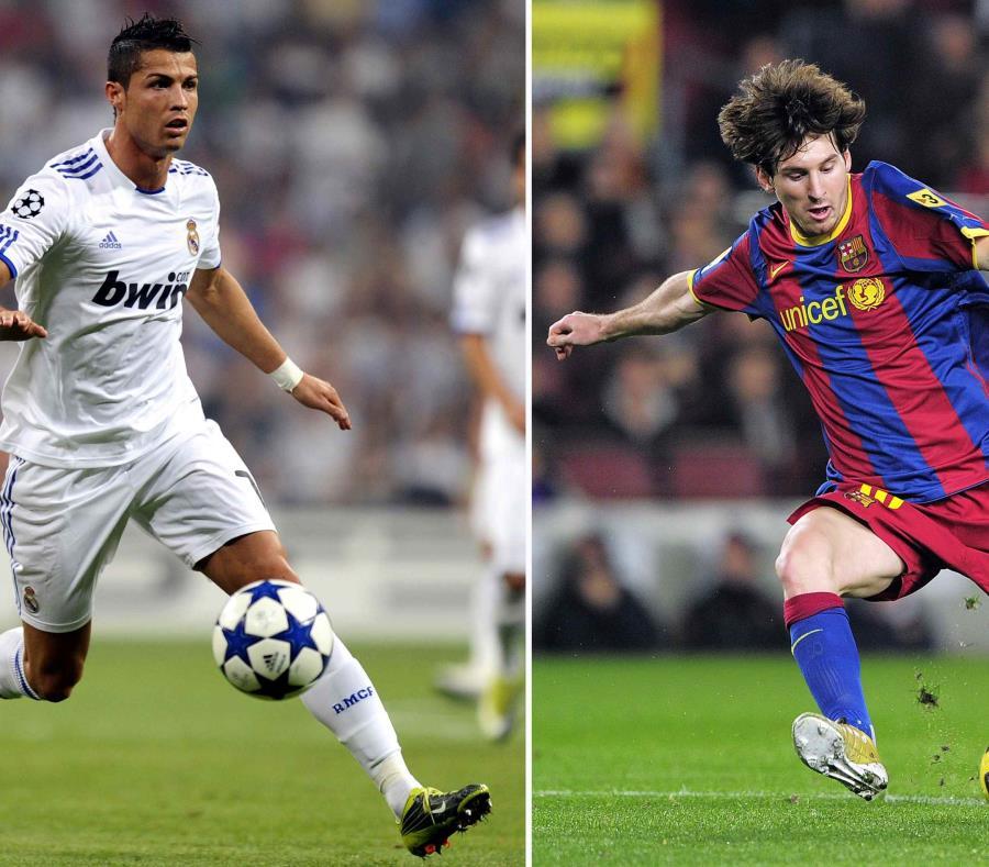 Lionel Messi (izq.) y Cristiano Ronaldo competirán en su cuarta Copa Mundial con sus respectivas selecciones. (AFP / Pierre-Philippe Marcou - Josep Lago) (semisquare-x3)
