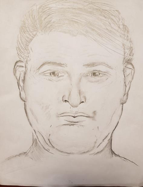 Boceto de la Policía del presunto agresor. (Suministrada) (vertical-x1)