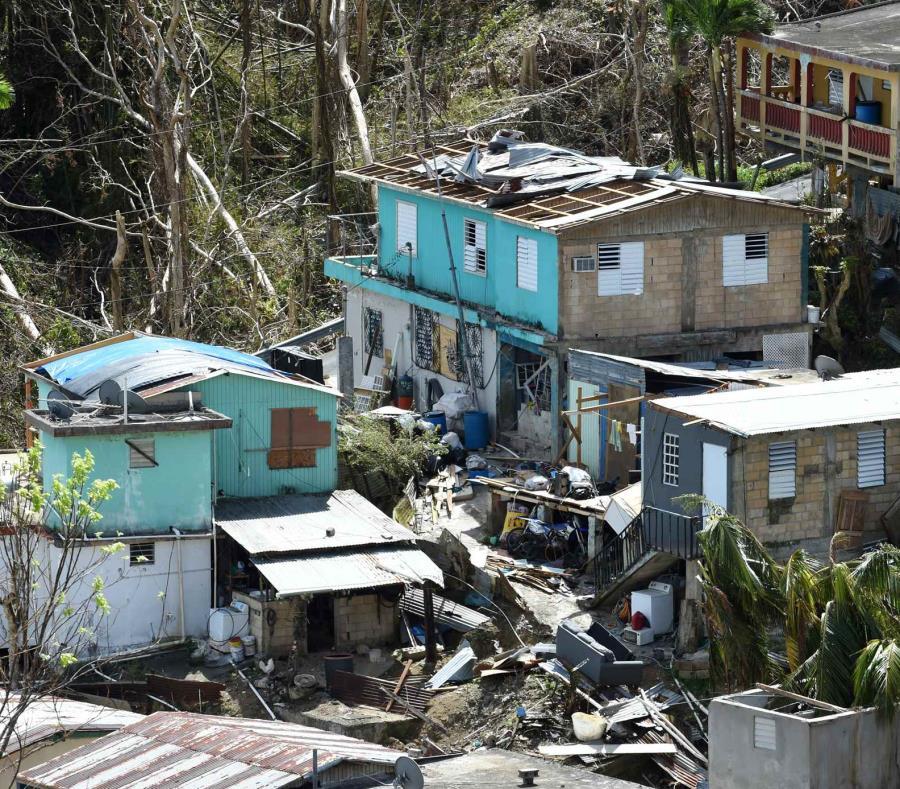 Residencias en San Lorenzo luego del paso del huracán María el pasado octubre de 2017. (semisquare-x3)