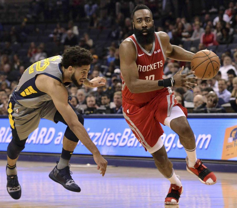 James Harden anota 57 puntos, pero Rockets caen ante Grizzlies