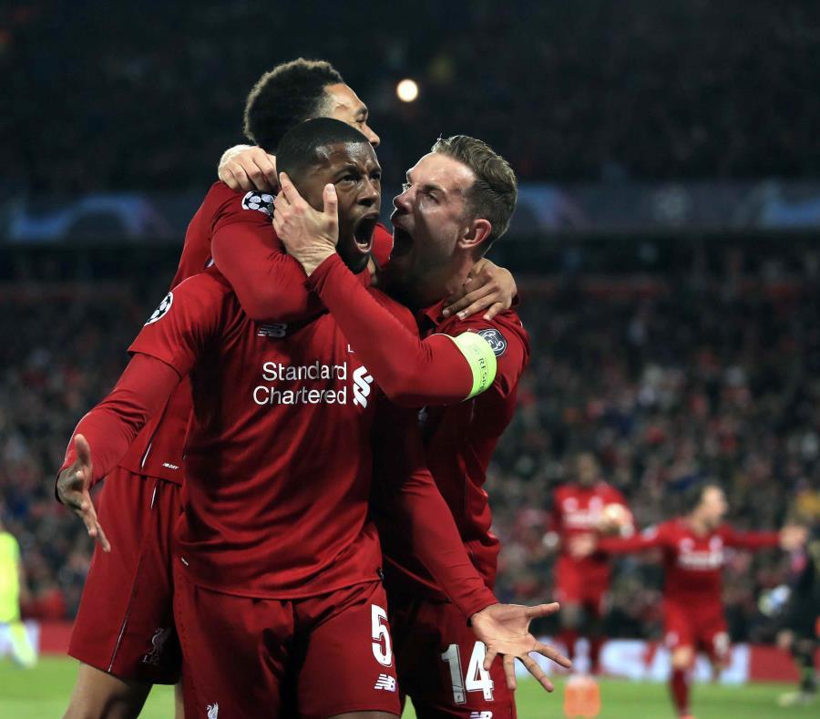 La remontada asomaba como una quimera, dado que Liverpool se presentó sin dos de sus delanteros titulares, Mohamed Salah y Roberto Firmino. (Peter Byrne/PA via AP) (semisquare-x3)