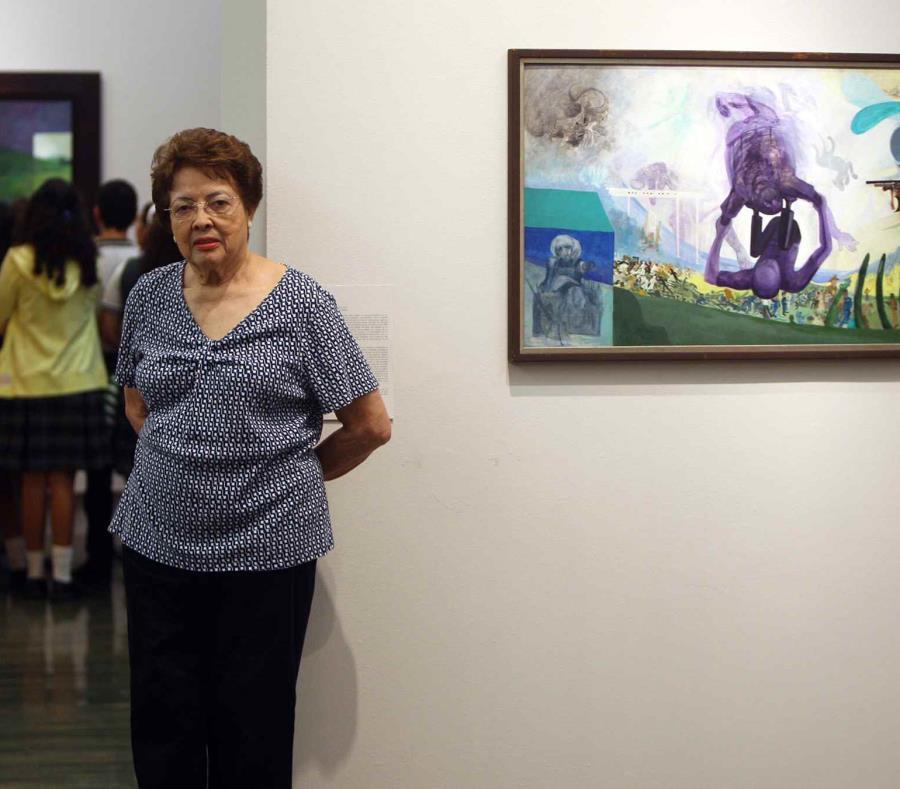 Myrna Báez en 2013 con motivo de la exhibición