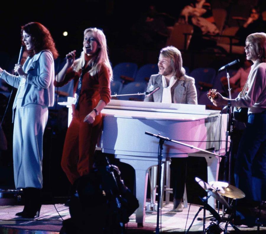 El grupo sueco ABBA  actúa en la Asamblea General de Naciones Unidas en Nueva York en 1979. (AP) (semisquare-x3)