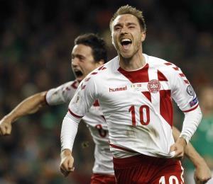 Christian Eriksen clasificó a Dinamarca al Mundial Rusia 2018