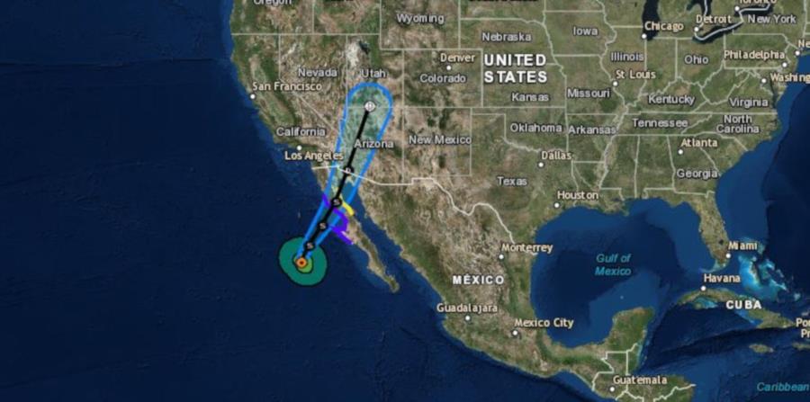 Captura del pronóstico de la trayectoria del huracán Rosa. (National Hurricane Center) (horizontal-x3)