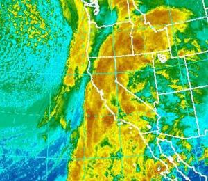 Una potente tormenta azota a California