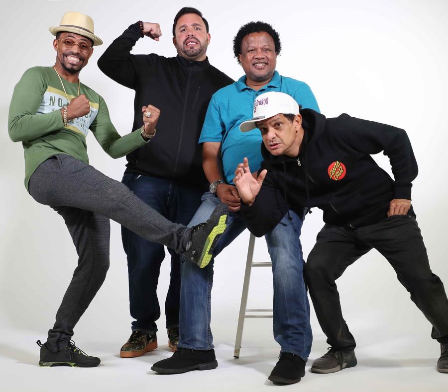 "Fausto Mata, Jorge Pabón ""Molusco"",  Aquiles Correa y Tony Pascual realizarán malabares, acrobacias y magias para arrancar risas. (semisquare-x3)"
