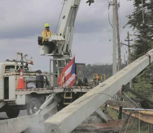 La AEE restablece el servicio de energía en gran parte de la zona norte
