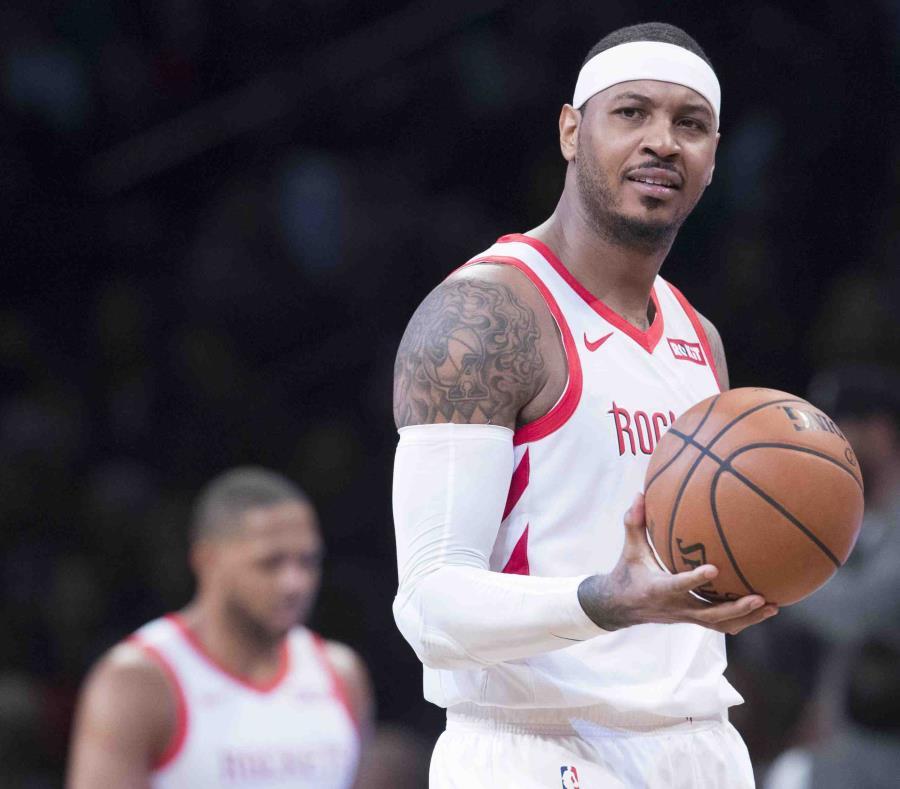 Los Rockets cambiaron a Carmelo Anthony a los Bulls en enero para luego dejarlo libre. (semisquare-x3)