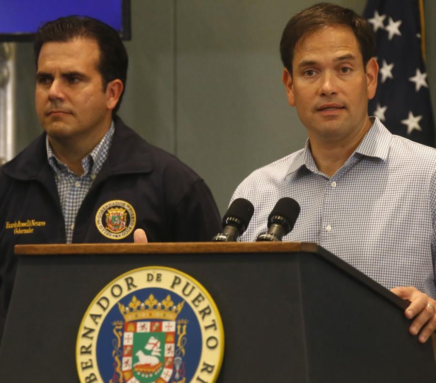 Marco Rubio sostuvo que, según informes recientes, el 35% de los puertorriqueños se enfrentan a un embargo de su hipoteca. (EFE / Thais Llorca) (semisquare-x3)