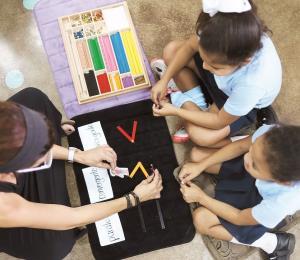 Tocó el timbre para el sistema Montessori público