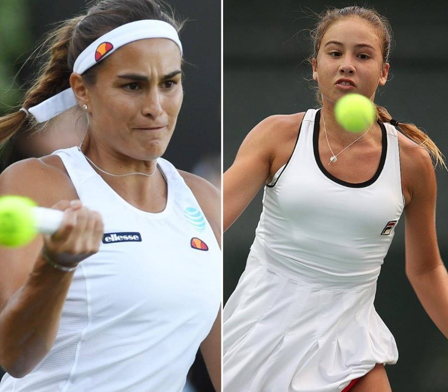 En la imagen están Mónica Puig (izq.) y Lauren Anzalotta. (semisquare-x3)