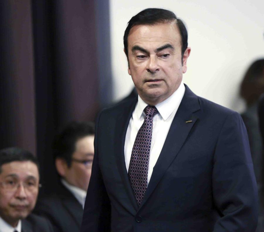 Carlos Ghosn fue detenido de nuevo la semana pasada. (AP) (semisquare-x3)