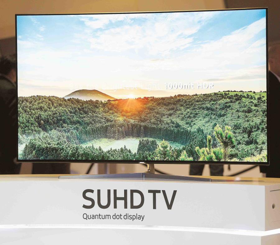 La empresa coreana Samsung produce su propia línea de televisores y fabrica paneles para muchas otras compañías. (Bloomberg / Patrick T. Fallon) (semisquare-x3)