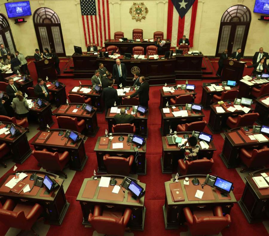 Hemiciclo del Senado durante una sesión. (GFR Media) (semisquare-x3)