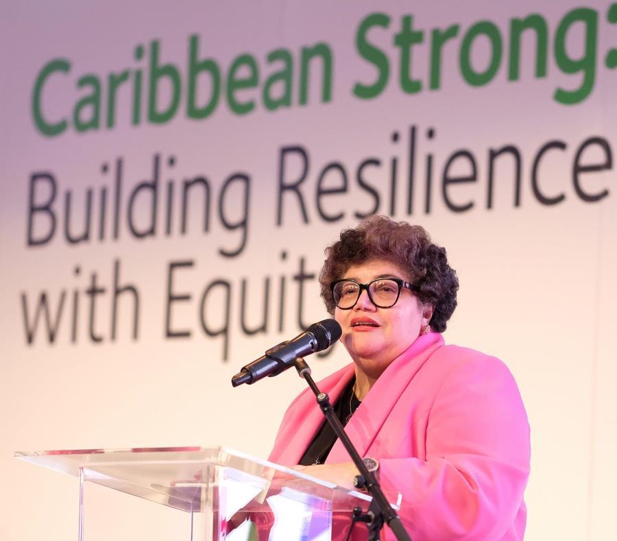 La directora del Fideicomiso de Ciencia, Tecnología e Investigación, Lucy Crespo, moderó el panel. (Suministrada) (semisquare-x3)