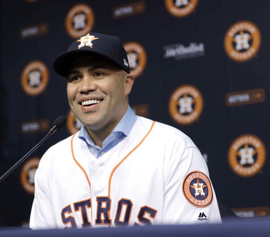 Carlos Beltrán fue una pieza importante en el primer campeonato de los Astros. (Archivo / AP) (semisquare-x3)