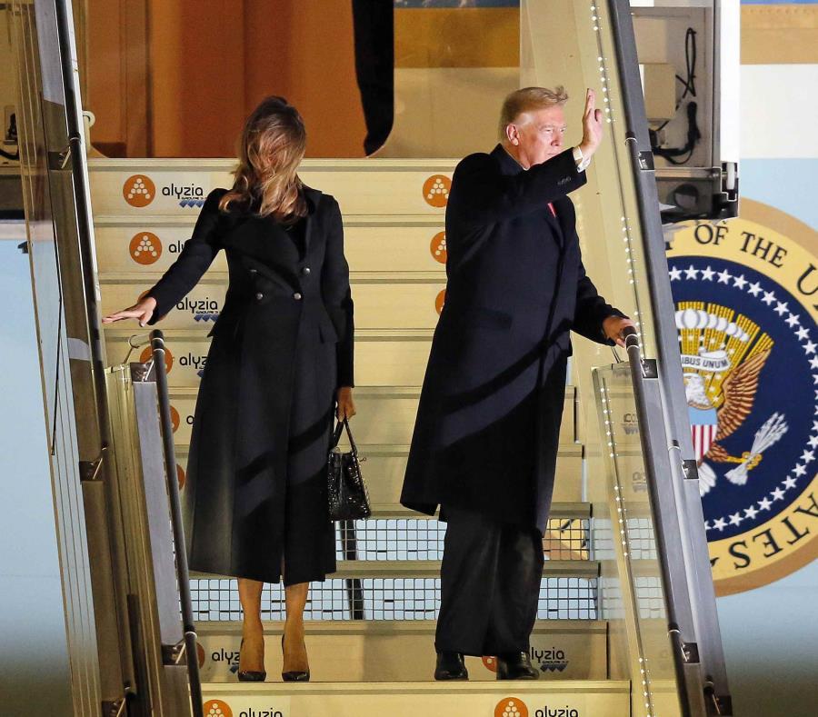 Trump y Macron chocan en aniversario del fin de Primera Guerra Mundial
