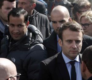 Allanan la casa del guardaespaldas de Macron